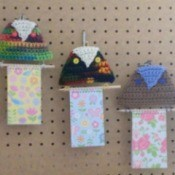 finished notepad hangers