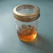 A fruit fly trap with apple cider vinegar