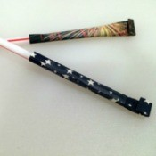 4th of July Straw Rocket