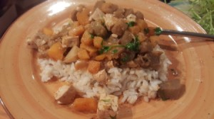Coconut Squash and rice
