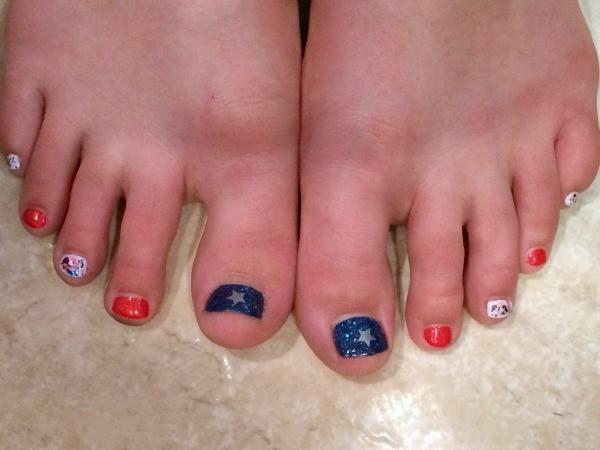 Fourth of july nail ideas thriftyfun july 4th nail polish idea prinsesfo Gallery