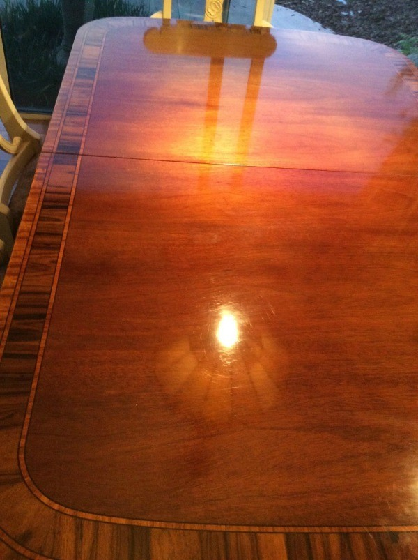 Refinishing A Sun Damaged Dining Table