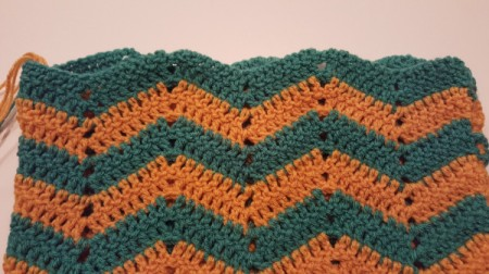 Ripple Crochet Purse