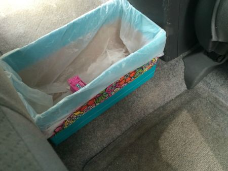 Duct Tape Car Trash Bin