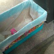 Duct Tape Car Trash Bin