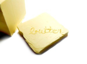A pat of real butter.