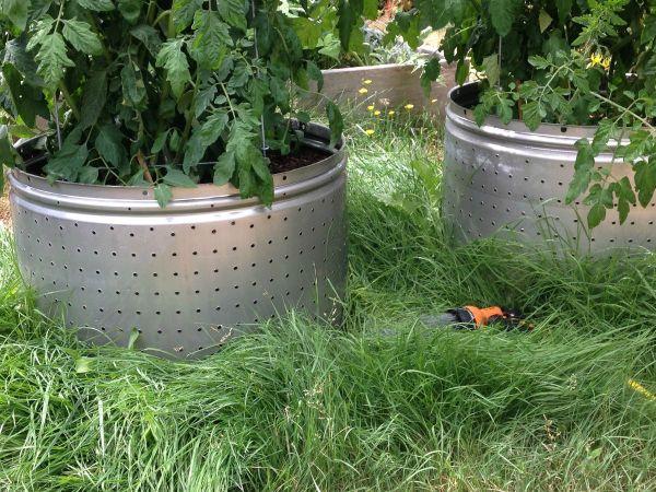 Recycled Washing Machine Drum Planters Thriftyfun
