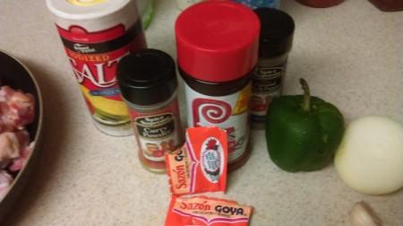 Curry Chicken ingredients