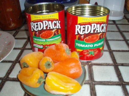 peppers and cans