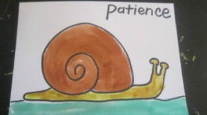patience and painting of a snail