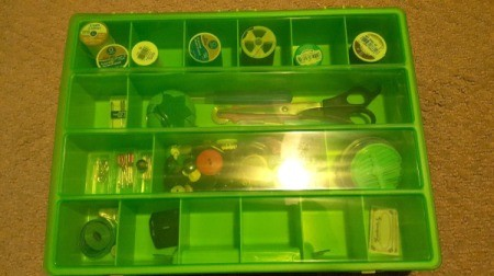 Fishing Boxes as Craft Organizers