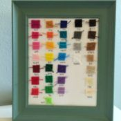 framed felt and floss color chart