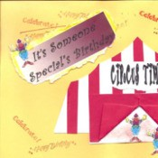 A homemade circus birthday card.