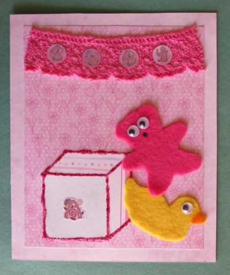 Welcome Little Baby Girl Card