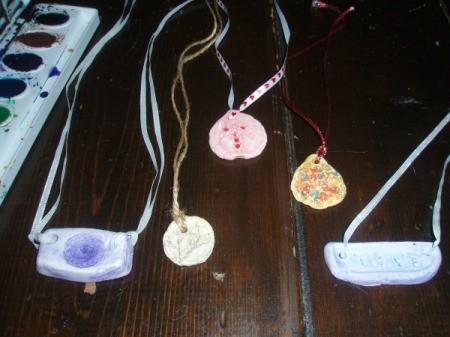 Unique Clay Necklaces