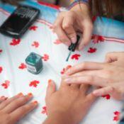 decorating fingernails