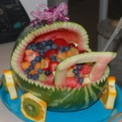 watermelon fruit bowl baby carriage