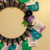 wreath on kitchen wall