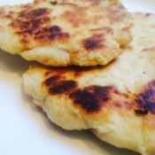 cooked naan bread