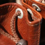 camel leather bag