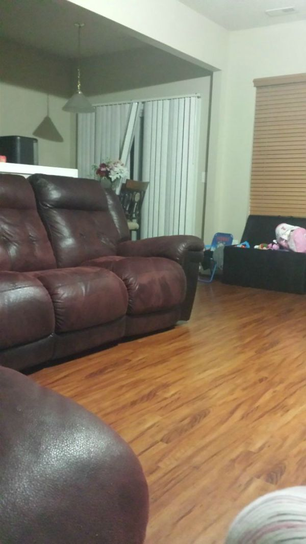 Living Room Floor And Couch