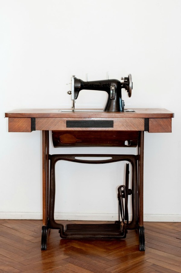 old sewing machine cabinet - Refurbishing A Vintage Sewing Machine ThriftyFun