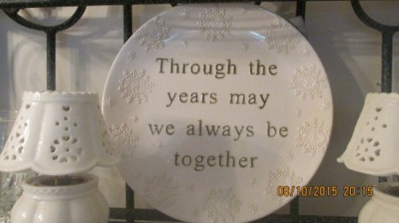 A plaque about remembering family.