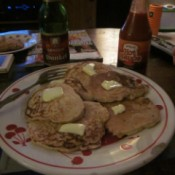 potato pancakes on plate