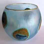 finished painted vase