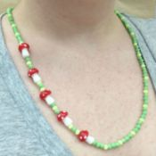 Simple Asymmetrical Beaded Necklace