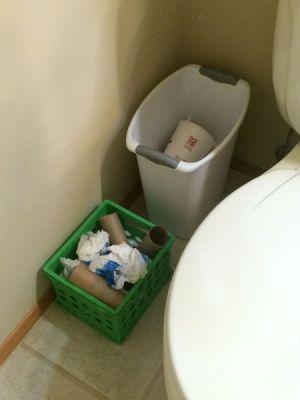 Bathroom Recycle Bin