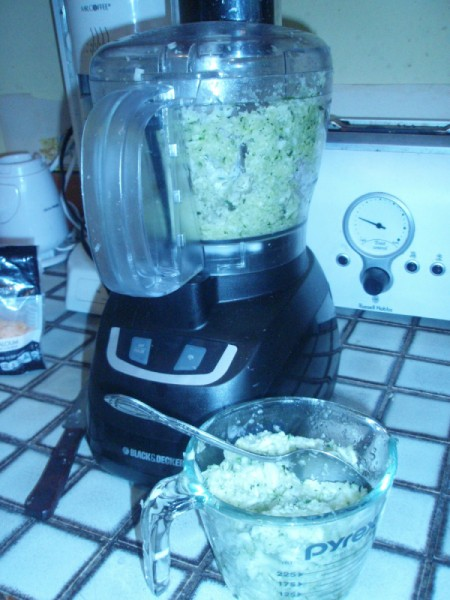 grating zucchini in food processor