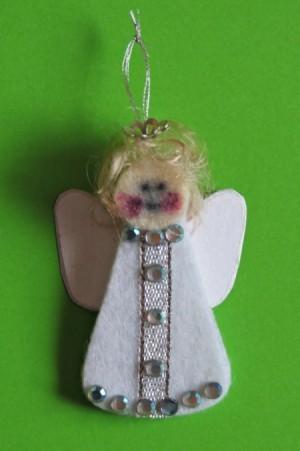 finished Angel ornament