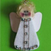 finished Angel ornament