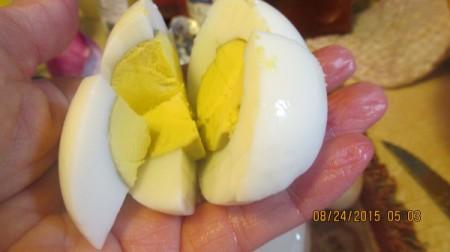 Old Fashioned Potato Salad - cut hard boiled egg