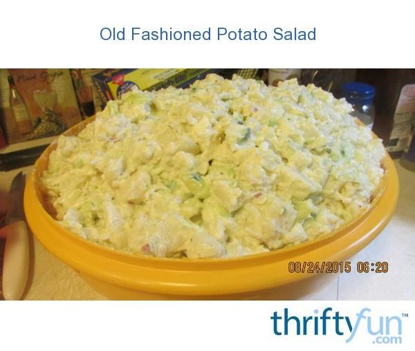 Old Fashioned Optatoe Salald