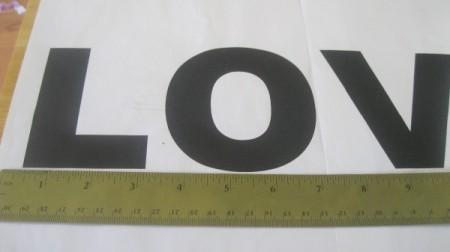 """""""Love"""" Letters Framed Art"""