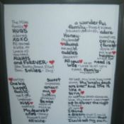 """Love"" Letters Framed Art"