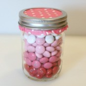 Ombre M & Ms Candy Jar
