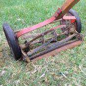 reel mower in pieces