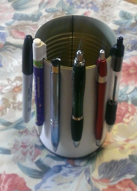 Soup Can as Pen Holder