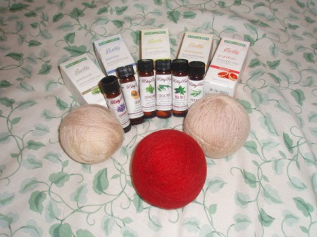 balls and essential oils