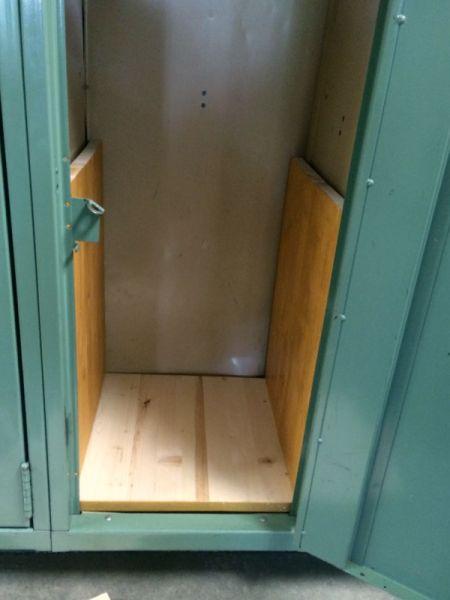 Wooden Locker Shelves | ThriftyFun