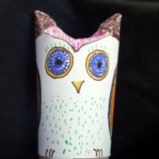 Easy Recycled Owl - finished owl