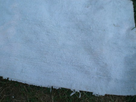 A rug before it is dyed.
