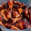 hot wings in bowl