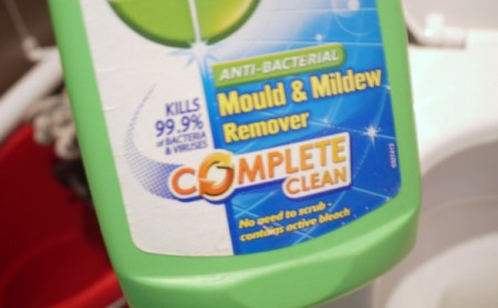 Cleaner for the toilet.