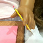American Girl Pencils and Clipboard