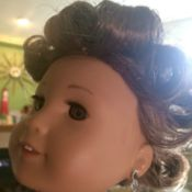Pin Curling an American Girl Doll's Hair