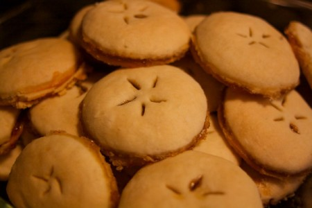 A heaping plate of apple pie cookies.
